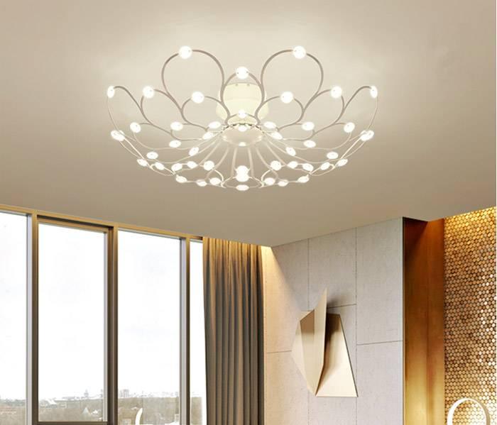 Потолочные люстры для низких потолков: варианты (50 фото)