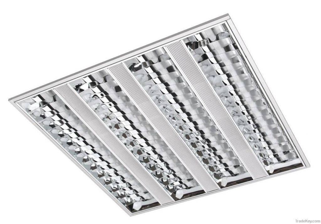 Люстры в подвесной потолок. растровые светильники для подвесных потолков. виды светильников для подвесных или натяжных потолков