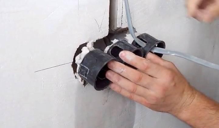 Установка розеток в бетонную стену своими руками: пошаговая инструкция