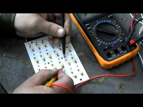 Проверка светодиода мультиметром (тестером) на исправность