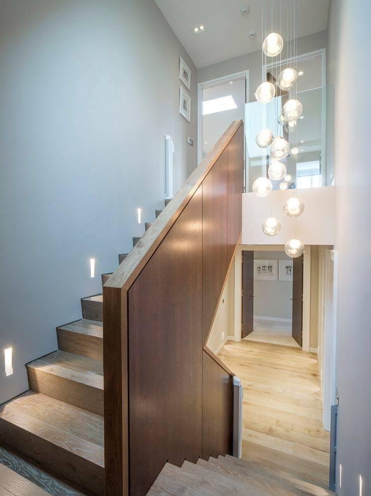 Основные варианты освещения лестницы в доме и критерии выбора (+58 фото) в фото