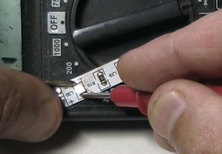 Способы проверки светодиодной ленты на работоспособность