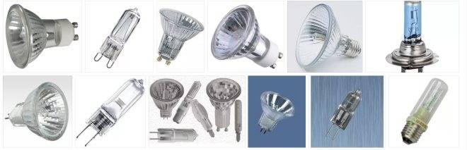Галогенные лампы: устройство, принцип работы, схема подключения, виды и технические характеристики