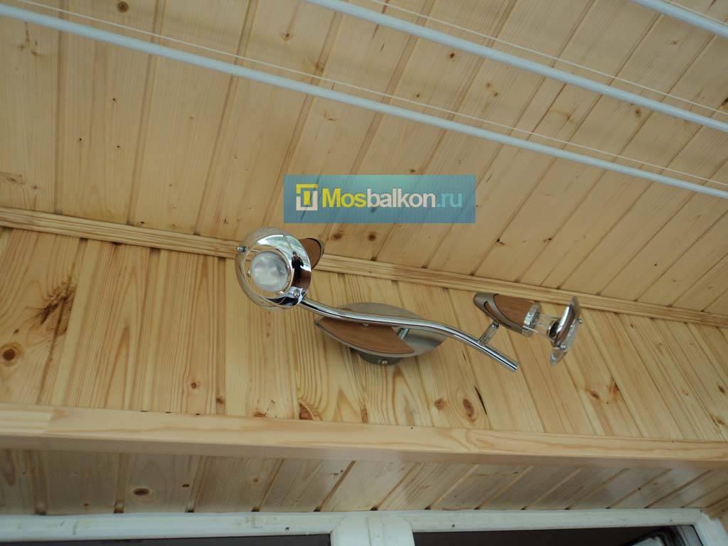 Создание освещения на балконе, ставим светильники и розетку