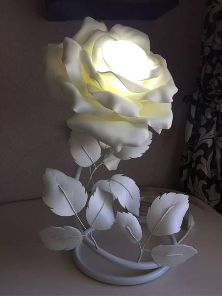 Как сделать светильник в виде розы