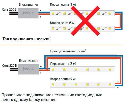 Подключение светодиодного прожектора к сети 220в