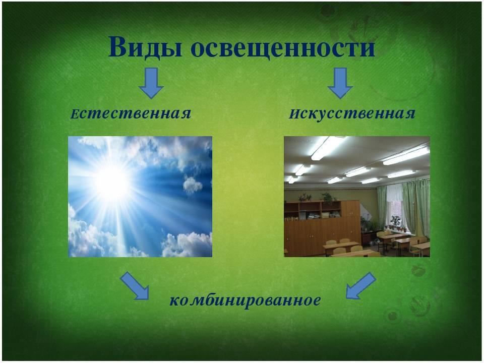 Требования к естественному освещению зданий и сооружений