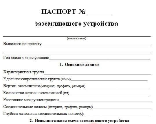 Акт проверки заземления по форме протокола эл-8. бланк и образец 2021 года