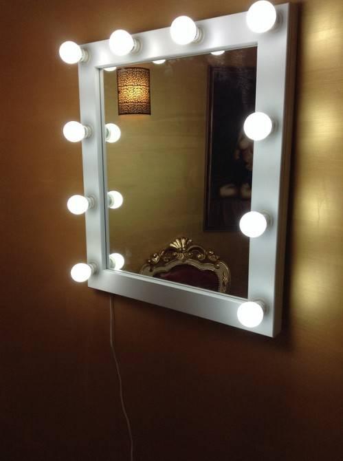 Гримерное зеркало с лампочками - «декор» » «дизайна интерьера»