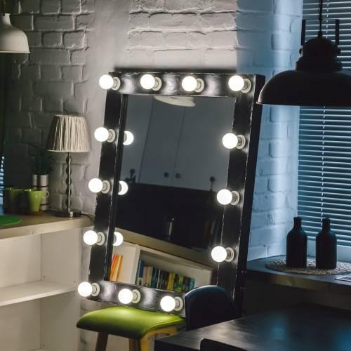 Подробная инструкция изготовления макияжного зеркала с лампочками