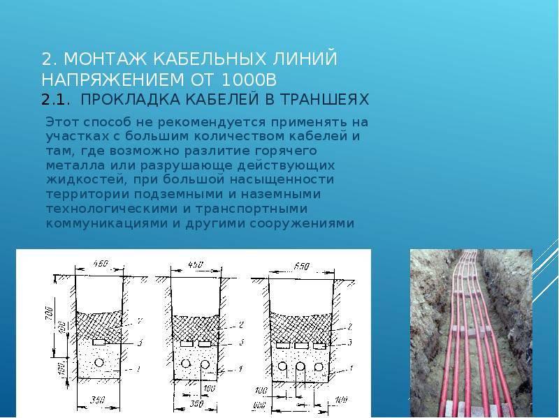 Бронированный кабель прокладка в земле: требования, особенности