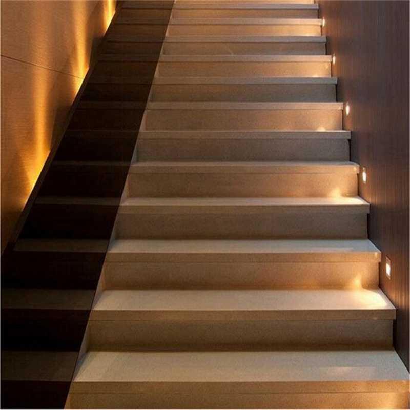 Подсветка лестницы - выбор материалов, схемы подключения и монтаж (80 фото современного дизайна)