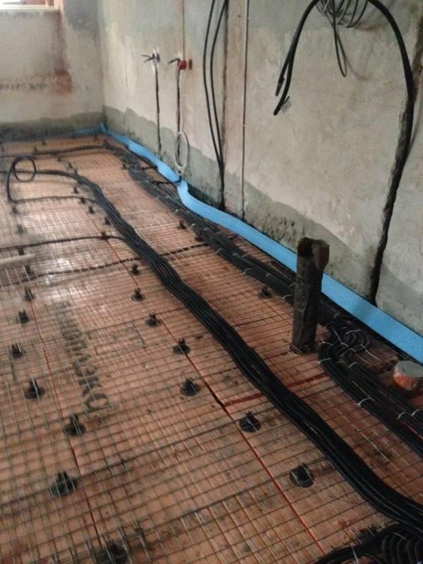 Электропроводка под полом