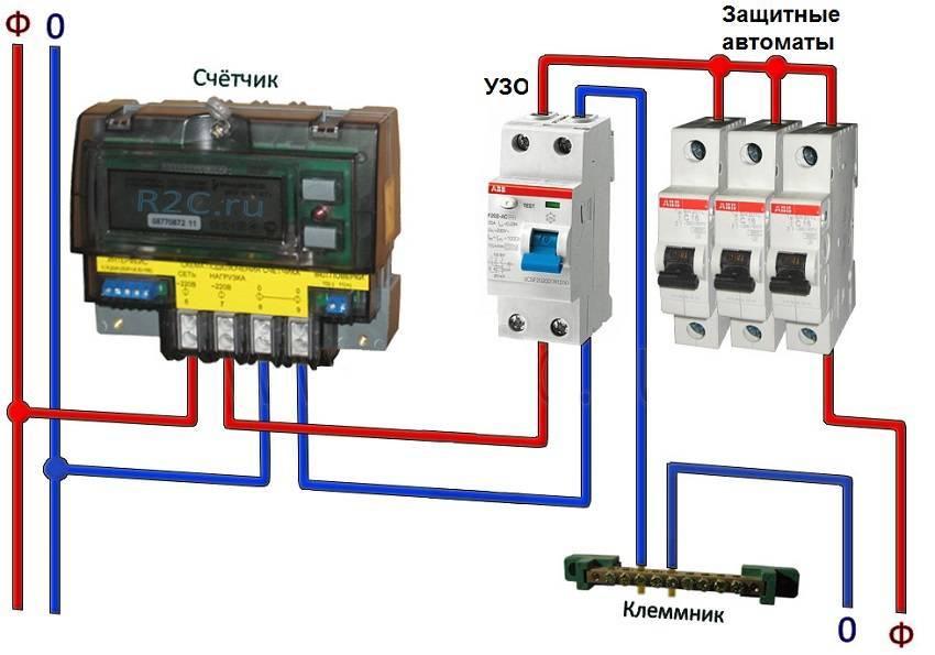 Cхема подключения узо, как монтировать узо в электрическом щитке