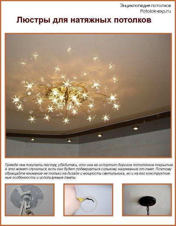 Лампочки в светильник на натяжной потолок: как выбрать?