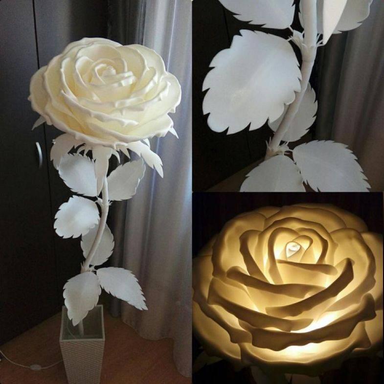 Изготовление цветов из изолона — мастер-класс