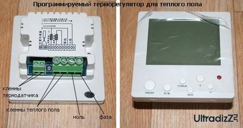 Подключение электрического одножильного кабельного теплого пола к терморегулятору