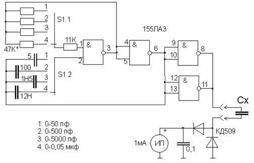 Простые схемы измерителей esr оксидных конденсаторов