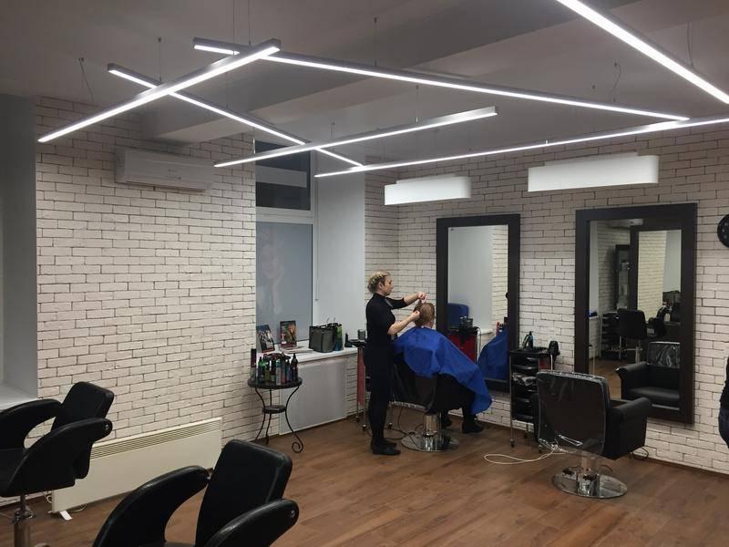 Освещение парикмахерских