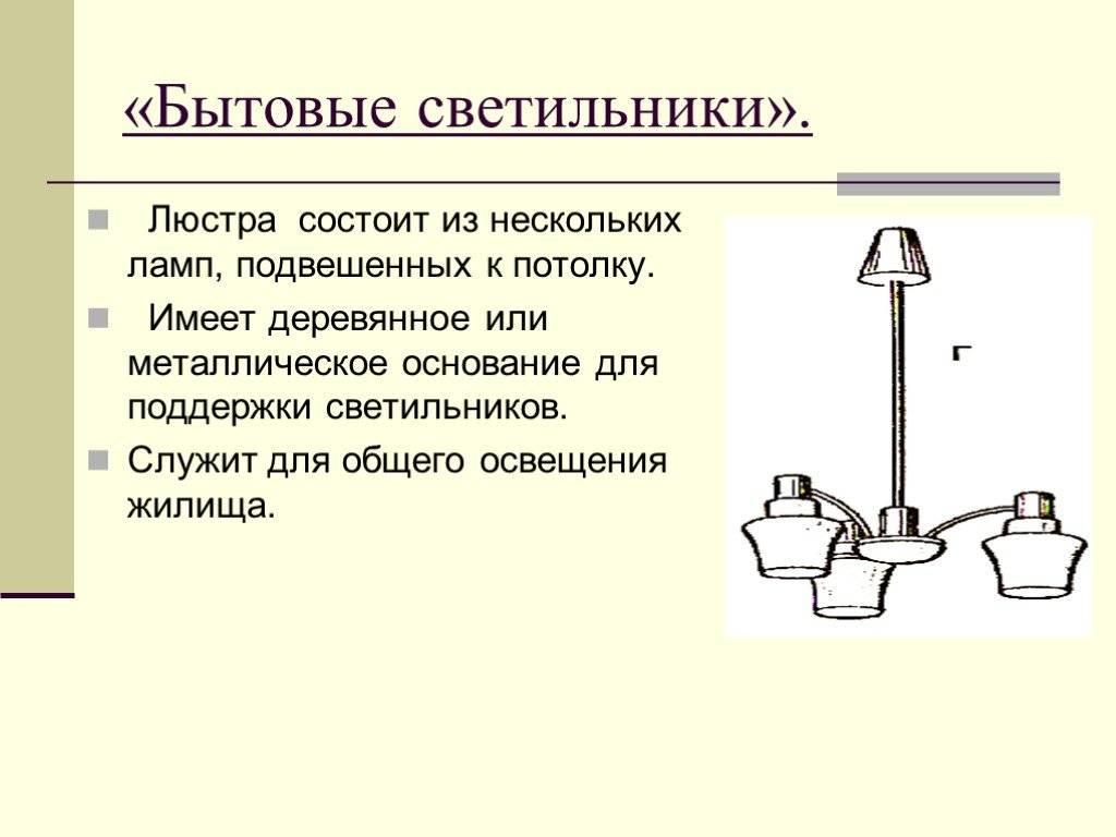 Светильники. что нужно знать о классификации светильников
