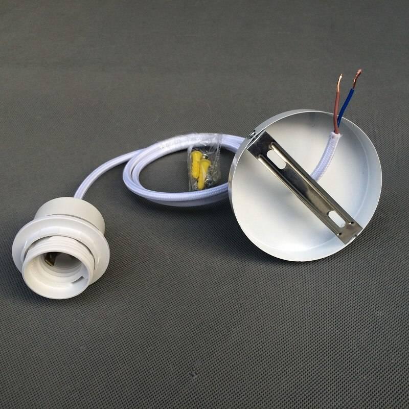 Как подключить патрон для лампочки к розетке