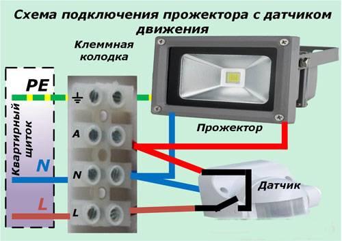 Как подключить led прожектор к сети 220