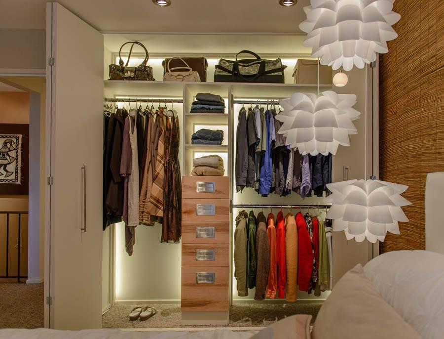 Светодиодная подсветка в шкафу: монтаж своими руками