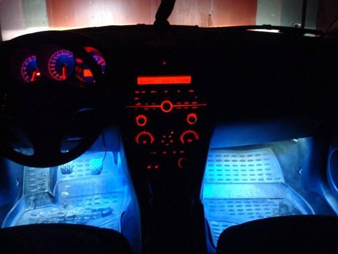 Как правильно установить светодиодную ленту на машину
