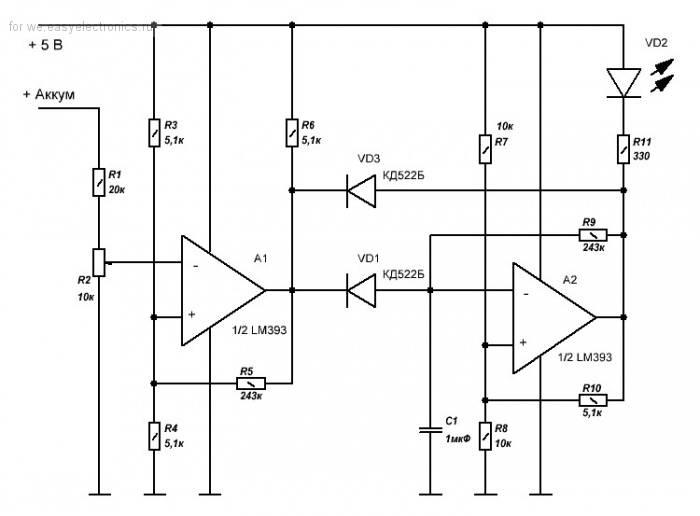 Использование оу в качестве компаратора / схемотехника / сообщество разработчиков электроники