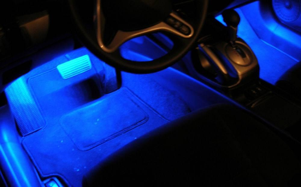 Как подключить светодиодную ленту в авто. подсветка своими руками