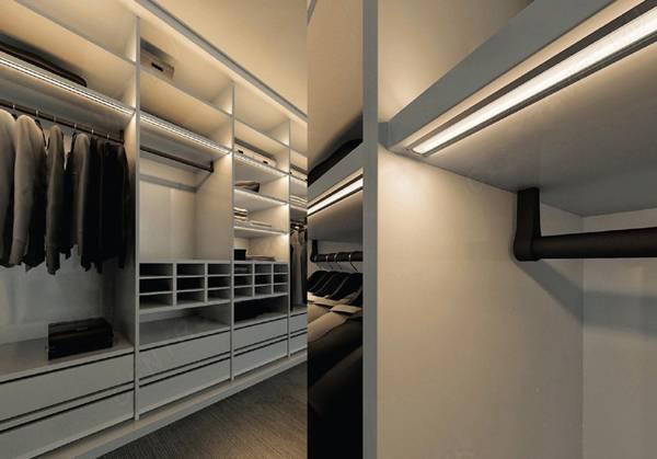Установка светильников в шкаф с одеждой: монтаж своими руками