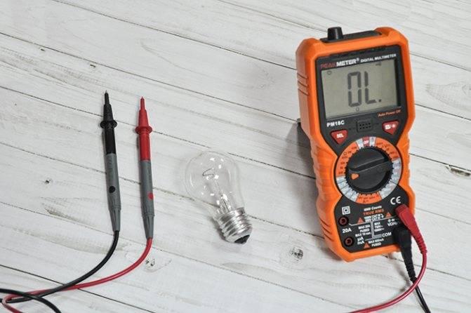 Как проверить лампочку мультиметром – инструкция