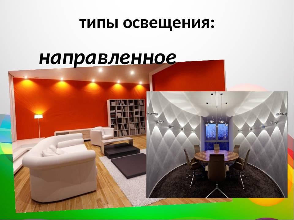 Освещение интерьера : виды,типы света, роль в дизайне.
