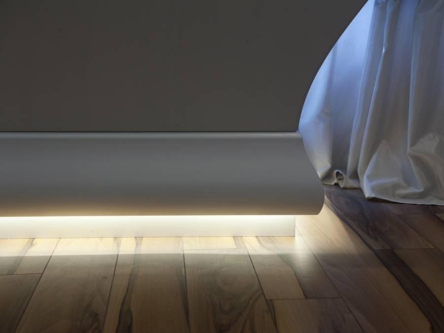 Установка напольного плинтуса с подсветкой своими руками