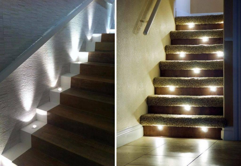 Подсветка ступеней лестницы - как оформить? 65 фото идей дизайна