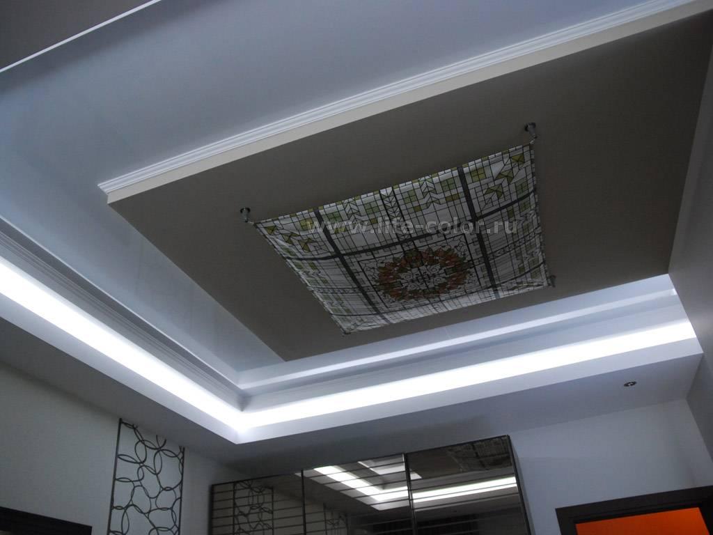 Потолок из гипсокартона с подсветкой: магия светового дизайна и ее разоблачение