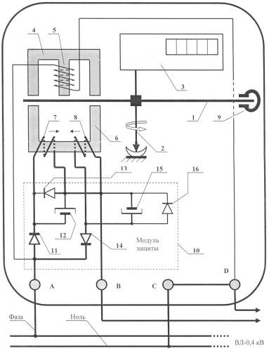 Схема подключения однофазного электросчетчика   ehto.ru