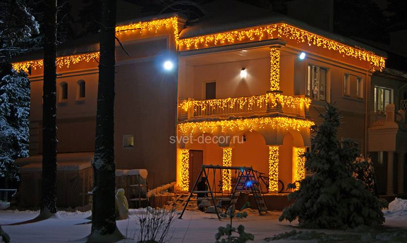 Разновидности светодиодных уличных гирлянд – самэлектрик.ру