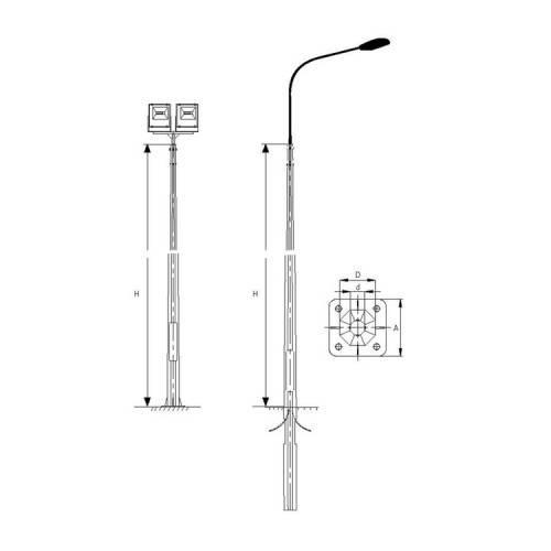 Как рассчитать площадь, освещаемую уличным фонарем? высота уличного фонаря