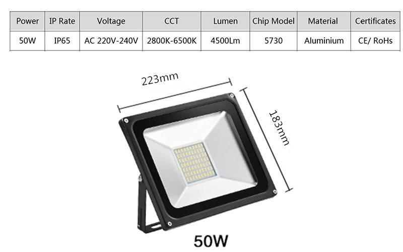 Светодиодные прожекторы на 50 вт: обзор моделей и цены