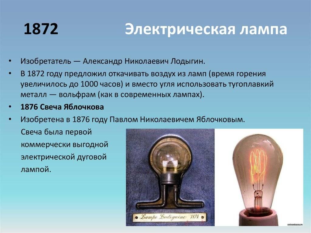 Кто изобрел первую в мире электрическую лампочку