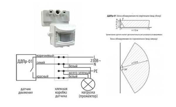 Как установить и настроить датчик движения для освещения