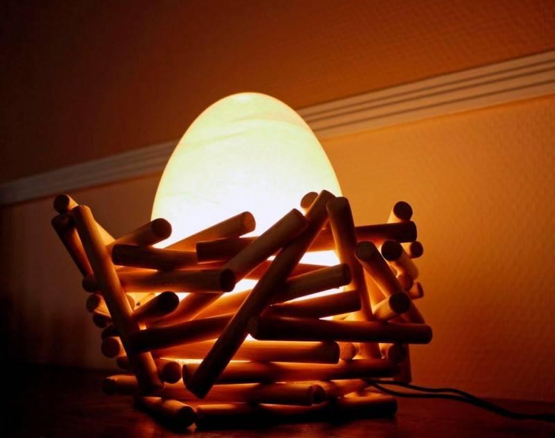 Светильник своими руками из подручных материалов: инструкции