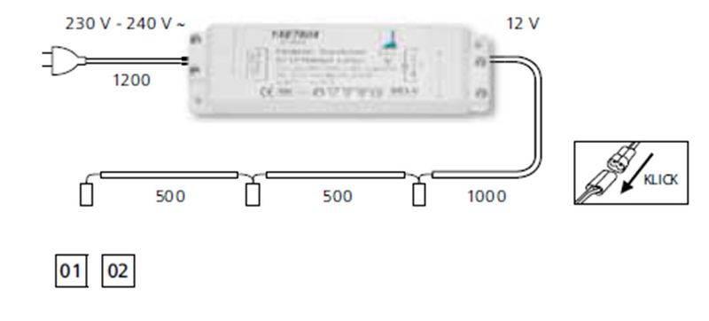 Схема подключения проводов для светильников