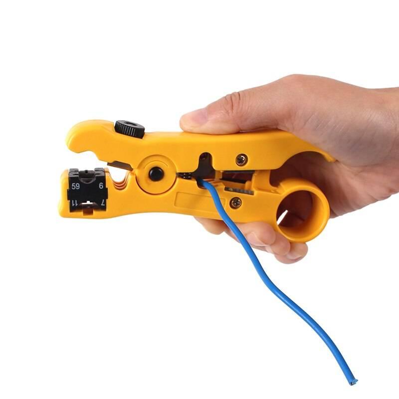Выбор инструмента для снятия изоляции с проводов