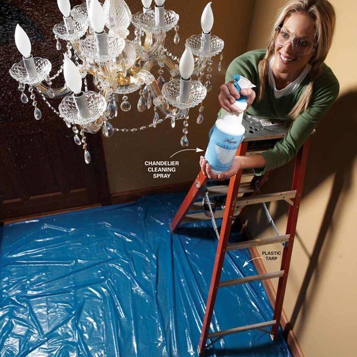 Как помыть хрустальную люстру: топ 15 средств в домашних условиях