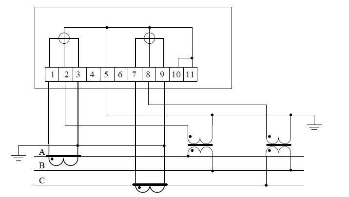 Схемы подключения трехфазного счетчика
