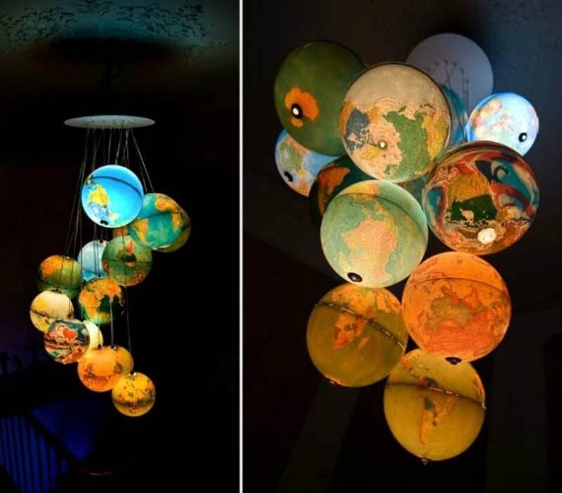 Люстра для дачи своими руками: 10 идей, как сделать из банок, прищепок, дисков, посуды, пробок, ниток, пластиковых стаканов, газеты