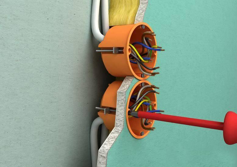 Как установить подрозетник в гипсокартон: пошаговая инструкция