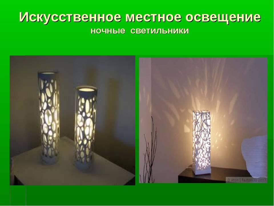 Виды освещения: естественное и искусственное